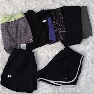 8 pairs of Athletic shorts (Nike&Under Armour)